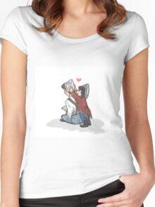 Kid!lock Sherlock and Mycroft Women's Fitted Scoop T-Shirt