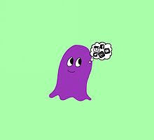Purple Blob obsessed with Social Media.  by Troxbled