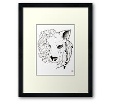 Life and Death Wolf Tattoo Framed Print