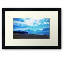 WYGT lake Framed Print