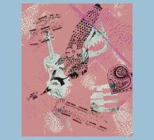 Musical Memories 5 Faux Chine Colle Monoprint Var 1 Baby Tee