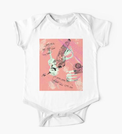Musical Memories 5 Faux Chine Colle Monoprint Var 1 One Piece - Short Sleeve