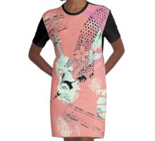 Musical Memories 5 Faux Chine Colle Monoprint Var 1 Graphic T-Shirt Dress