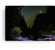 Meteor Shooting Over King's Canyon Stream Canvas Print