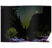 Meteor Shooting Over King's Canyon Stream Poster