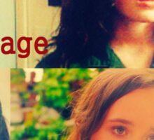 Ellen Page collage Sticker