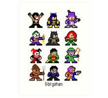 8-bit Gotham Art Print