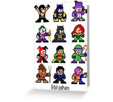 8-bit Gotham Greeting Card