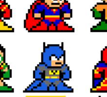 8-bit Justice League Sticker
