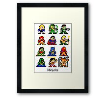 8-bit Justice League Framed Print