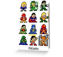 8-bit Justice League Greeting Card