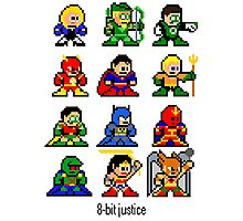 8-bit Justice League Photographic Print