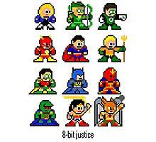8-bit Justice League Photographic Print