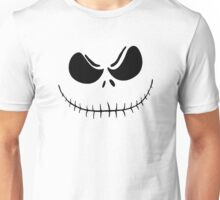 """Jack's Obession"" - Nightmare Before Christmas, Skellington, Pumpkin King, White, Grin, Evil, Halloween, Christmas Unisex T-Shirt"