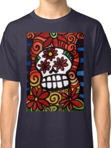 Flower Eyed Day of the Dead Sugar Skull Classic T-Shirt