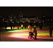 Montreal Old Port Skating Ring  Photographic Print