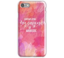 Contemplating My Vagenda of Manocide iPhone Case/Skin