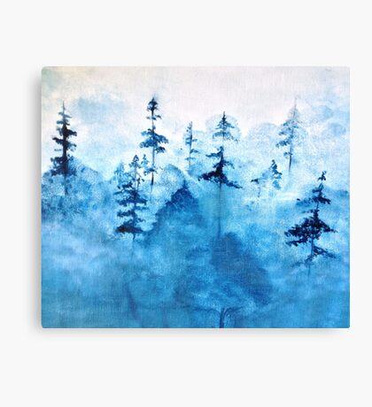 Blue Woods Duvet Canvas Print