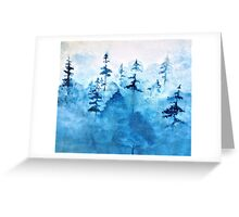 Blue Woods Duvet Greeting Card