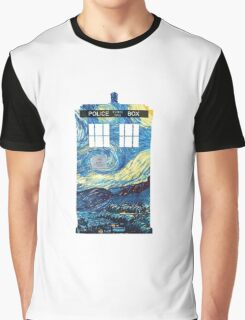 Van Gogh's TARDIS Graphic T-Shirt