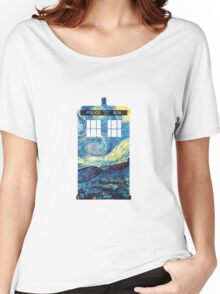 Van Gogh's TARDIS Women's Relaxed Fit T-Shirt