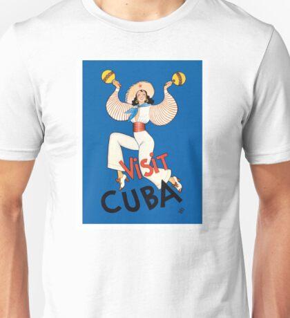 1935 Visit Cuba Dancer Tourism & Travel Poster Unisex T-Shirt