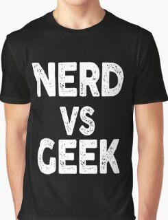 Nerd vs Geek science Graphic T-Shirt