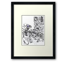 Robot Science Girl Framed Print
