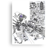 Robot Science Girl Canvas Print