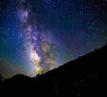 Majestic Milky Way Over Mountains in King's Canyon  by Gavin Heffernan
