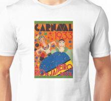 Brazil Carnival 1933 Vintage World Travel Poster by Renato Unisex T-Shirt