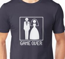 GAME OVER Funny Bachelor Party Wedding Groomsman Unisex T-Shirt