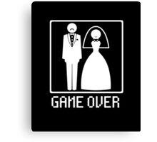 GAME OVER Funny Bachelor Party Wedding Groomsman Canvas Print