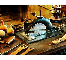 Old Fashioned Sewing Machine Photographic Print