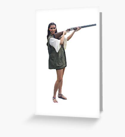 Kardashians with guns: Kim Greeting Card
