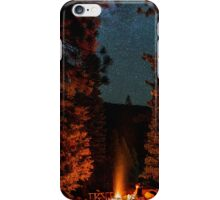 Camping Under Stars and Trees Night iPhone Case/Skin