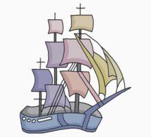 Tall Sailing Ship One Piece - Long Sleeve