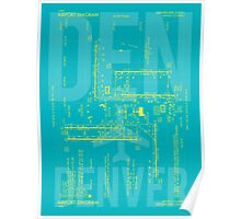 DEN Denver Airport Diagram Poster