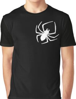Cool Spider Silhouette Print Novelty Graphic Graphic T-Shirt