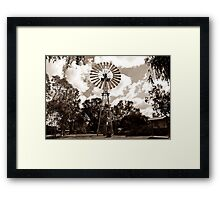 Windmill in the park Framed Print