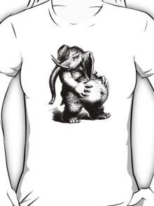 Vintage Elephant (no inscription) - Woodcut Style T-Shirt