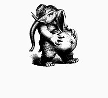 Vintage Elephant (no inscription) - Woodcut Style Unisex T-Shirt