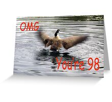 Happy 98th Birthday Goose flapping Greeting Card