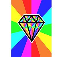 colorful diamond Photographic Print