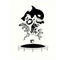 Bouncing Animals Art Print
