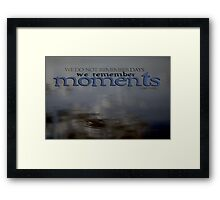 Moments © Vicki Ferrari Framed Print