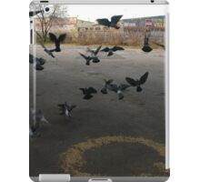 Pigeons Flight in Montreal Suburb. iPad Case/Skin