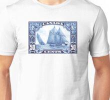 1929 Canada Schooner Bluenose Postage Stamp Unisex T-Shirt