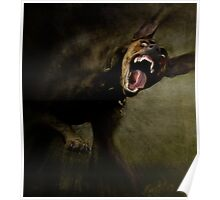 Dogs with game face on .42 Poster