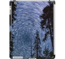 Polaris Star Trails Over Big Forest in King's Canyon iPad Case/Skin